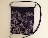 "Koi Fish Quilted Batik Fabric Snap Bag Purse 7"" x 8-1/4"""