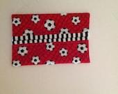 Soccer Balls Fabric Tissue Holder