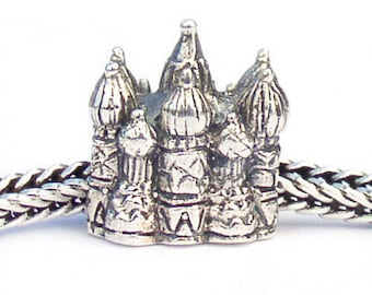St Basil Cathedral Landmark Bead Sterling Silver LM006