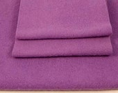 FELTED WOOL PIECES Purple Reclaimed Woolen Fabric 1440