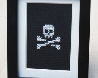 Skull & Crossbones Cross-Stitch Mini