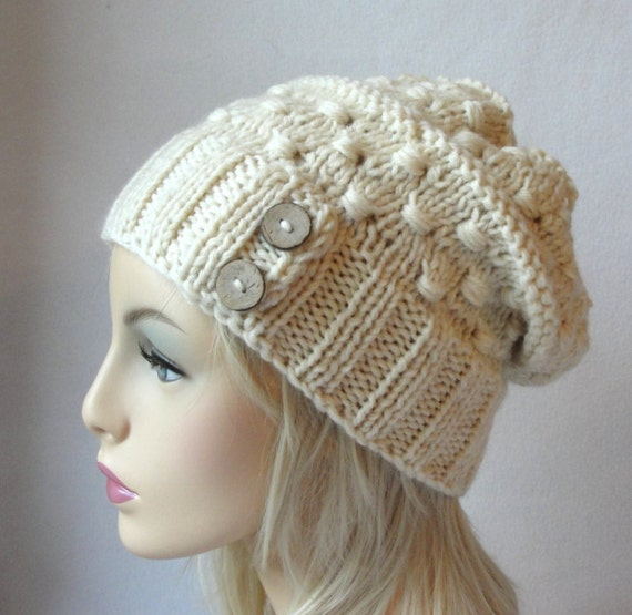 Knitting Pattern Knitted Hat Pattern Macaroni Beanie Knit Slouch