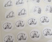 Classic Winnie the Pooh and Friends White Envelope Seal Stickers - Set of 12