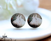 50% off- 16mm 20mm 10PCS 20PCS 50PCS 100PCS  Round Handmade Photo Wood Cut Cabochon - (WEH-30)-(Back White)