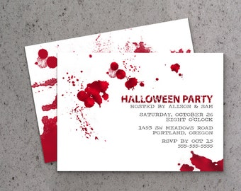 5x7 Blood Splatter Invitation (digital or printed)