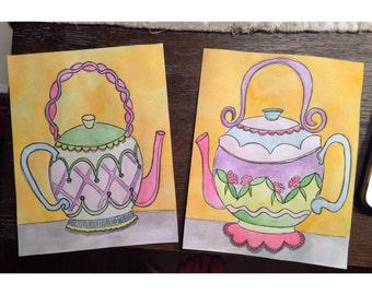 Custom Teapot Paintings