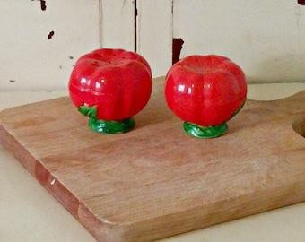 Vintage Tomato Salt and Pepper Set | Japan