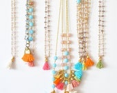 Multi Jewelry Set - Frinze Bohemian Jewelry - Tassel Jewelry - Beaded Jewelry - Gifts for Her - Girly Fashion - Free Shipping - Choose Yours