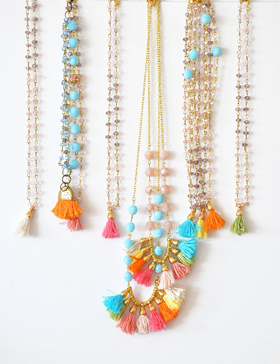 Multi Jewelry Set Frinze Bohemian Jewelry Tassel Jewelry