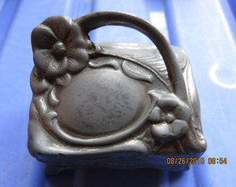 Art Nouveau Pin Cushion Box c 1900