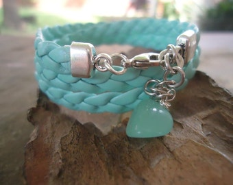BRAIDED & GLASS BOTTLES wrap bracelet (857)