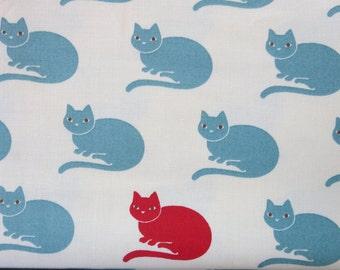 Neco Lucky Neco Ivory Sky 16133 12 - Cat Fabric