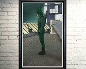 Arrow Art Print- Green Arrow CW poster