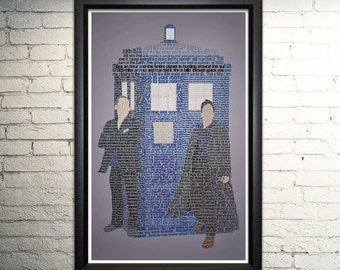 Doctor Who: Ninth Doctor word art print - 11x17""