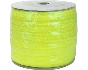 "Neon Yellow 288yd Giant Roll 5/8"" Fold Over Elastic"