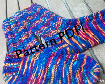 Serleena Socks: PDF Knitting Pattern by Sarah Wilson