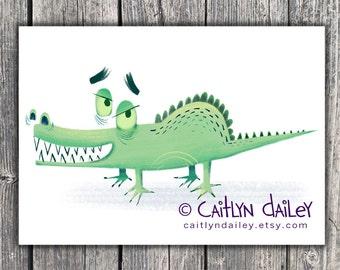 Crocodile - 8.5 x 11 print
