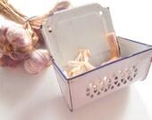 Vintage French Enamelware Holder for Garlic very Rare