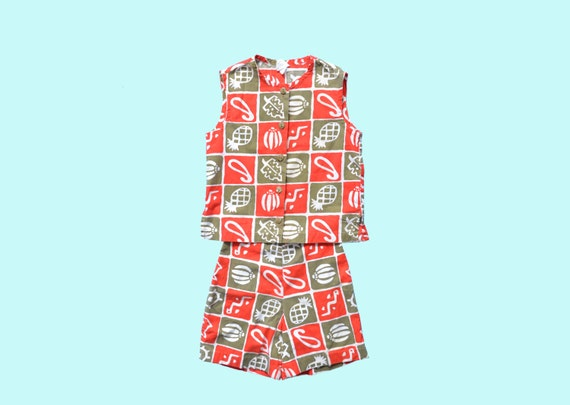 1950s Childs' Two Piece Play Suit