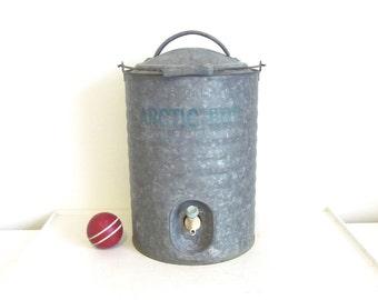 Vintage Arctic Boy Water Cooler - 3 Gallon Galvanized Cooler - Picnic Decor