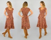SALE • 70's Fall Foliage Dress