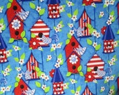 Patriotic Bird Houses Surgical Scrub Top / X Small - XX Large