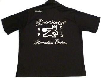 Bowling Shirt Vintage King Louie VIP Club Shirt Personalized Bob Hankey Rockabilly Shirt Medium Brunswick Recreation Center 1970s Union Tag