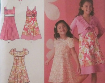 Simplicity 2683 Girls 2009 Dress Jacket Sewing Pattern Chest 22 23 24 25