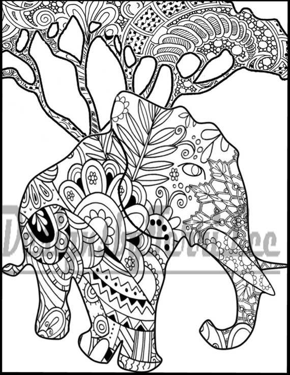 SALE Printable Adult Coloring Page Digital Download Print