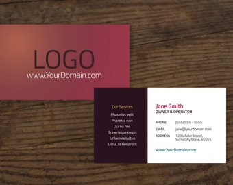 TriFold Brochure Template W Price List - Tri fold business card template