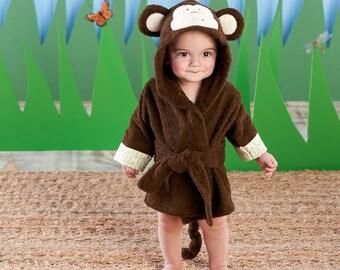 Infant's Personalized Monkey Spa Robe