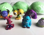 Monsters Inc. 6 Piece Party Pack Monsters U Bath Bombs -Surprise Fizzy Bath Candy for Tub Time Fun Lush Party Favors Monster Toy - Sulley