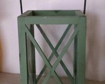 Wedding lantern cardholder, beach lantern, wood lantern