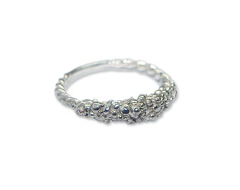 Bobbly ring, 925 Silver, Signature collection
