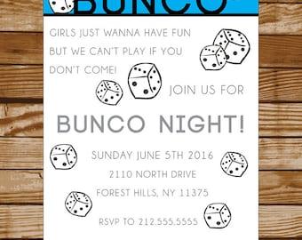 Bunco Party Invitation Digital Download