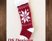 CROCHET PATTERN: Snowflake Christmas Stocking Pattern, Christmas Sock Pattern, Cute Christmas Stocking, Family Christmas Stockings
