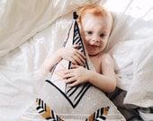 Decorative Nursery Pillow - TEEPEE PILLOW - Baby pillow - Tribal nursery decor - Pajama pillow - Nursery decor pillow - Cute crib pillow