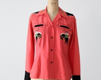 1950s cowgirl shirt, Western-Maid western wear
