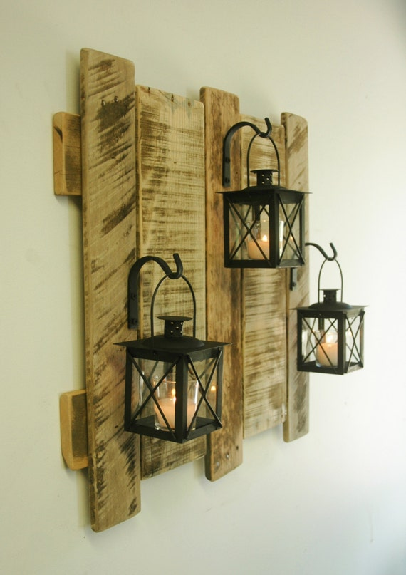 pallet wall decor with lanterns rustic by pineknobsandcrickets pallet wall decor with lanterns rustic decor shabby chic