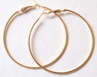 Vintage eighties hoop earrings
