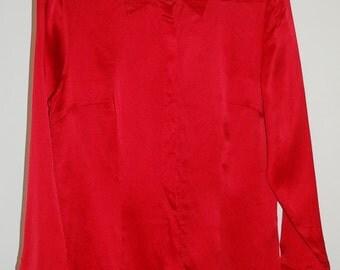 Vintage silk shirt blouse