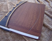 Wood and Leather 3-post Binder
