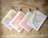 Assorted Map Pages Atlas Destash 10 Vintage Maps