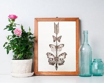 Butterfly Arrow | Print