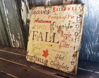 12 x 12 Rustic Fall Barnwood Sign Cottage Home Decor Vegetarian Vegan Thanksgiving Halloween Tofurkey Football  Wall Hanging Photo Prop
