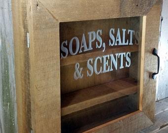 Bathroom Cabinet Barn Wood Cabinet Medicine Cabinet Rustic Cabinet Shabby  Chic Cabinet Bathroom Storage Spa Cabinet