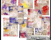 Journal It Papers Set #19 - Digital Art Supplies By Angie Young