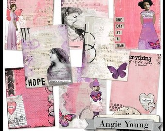 Journal It Papers Set #10 - Digital Art Supplies By Angie Young