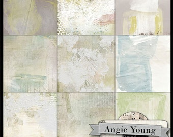 digital papers 12x12 backgrounds - Trash To Treasure - Digital Art Supplies By Angie Young