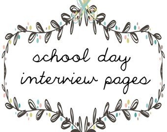 Baby Book - Interview pages add on